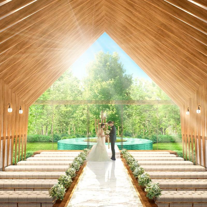 NEW!2018年夏 緑の邸宅に【県内唯一の木のチャペルが完成!】
