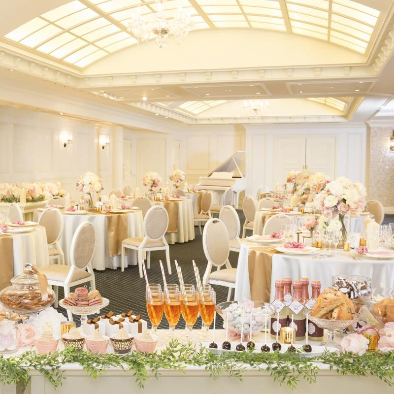 【本番前見学】結婚式が始まる前の緊張の会場を見学☆試食付