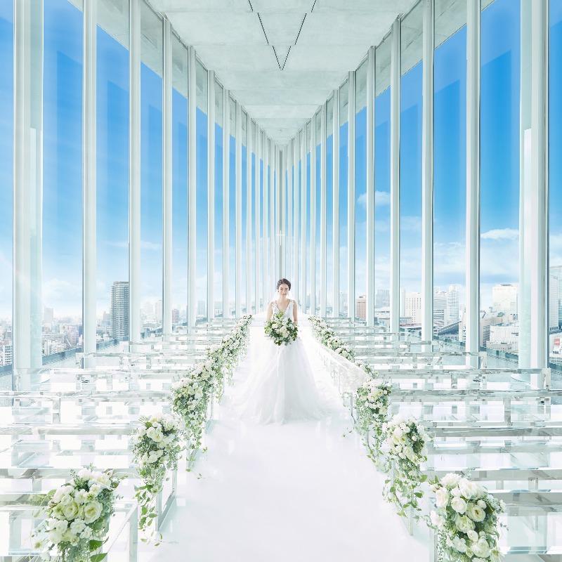 【朝イチ×1件目見学◎ご優待】豪華フレンチ試食×天空チャペル