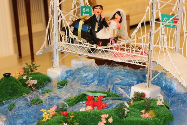 welcome大橋♪新郎の香川県と新婦の広島県を、瀬戸大橋でつなげましたっ☆