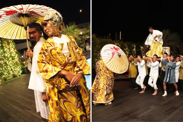 手作りの番傘、そしてお神輿での入場はかなり盛り上がりました!!!