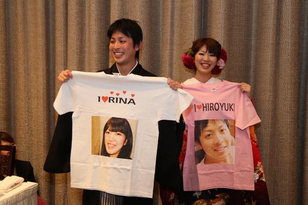 ご友人からプレゼント☆お2人のTシャツ♪