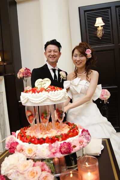色々な要望を聞いていたただいたウェディングケーキ(*^_^*)大満足です♪
