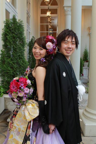 和ドレスはこだわりの1着です♪