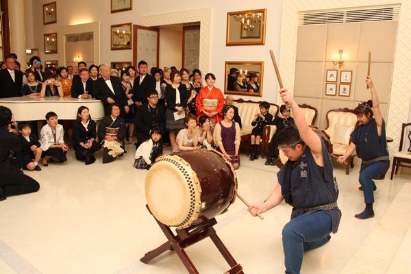 和太鼓演奏、家族バンド…etc.余興も盛りだくさん!