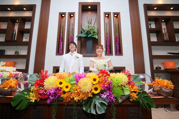 イメージ通りの装花!最高にキレイでした!岡田さんありがとうございました!