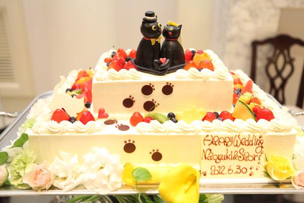 プランナーさんと三人で考えたウェディングケーキ☆