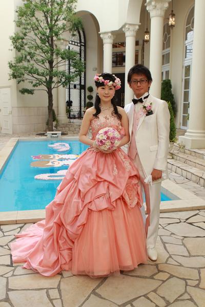 悩みに悩んだカラードレス、とってもお気に入りの1着に巡り合えました。