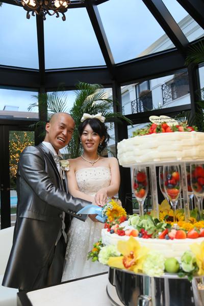 イメージ通りのウェディングケーキに大満足!