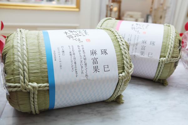 両親へのプレゼントは生まれた時の体重の米俵(笑)ずっと持っているのは重たかったそうです。