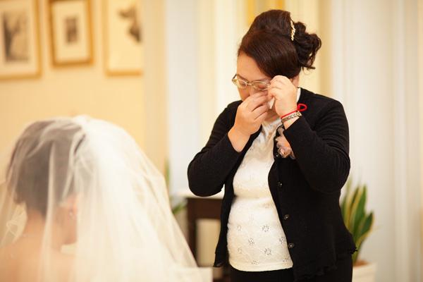 母にしてもらったベールダウン 母が泣いて私も泣きました