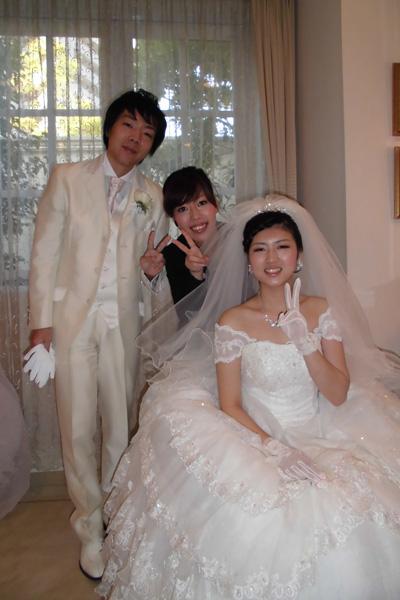 3人で今日まで築いてきた結婚式 早舩さんにはとても感謝しています