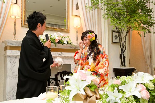 な、なんと中島さんが用意したリングピローは新郎の手作りだったのです!まさかのサプライズに新婦は涙と汗のオンパレードです。