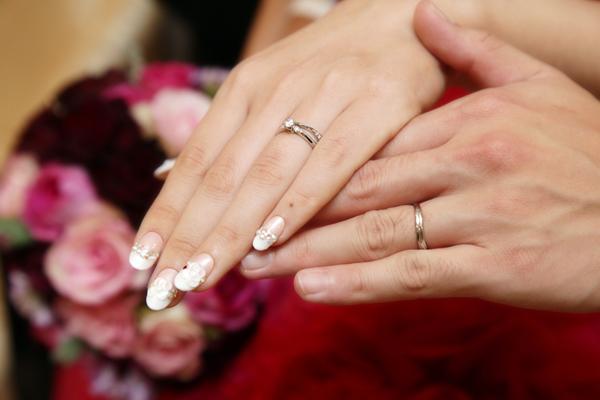 お気に入りの結婚指輪。一生外しません!!(笑)