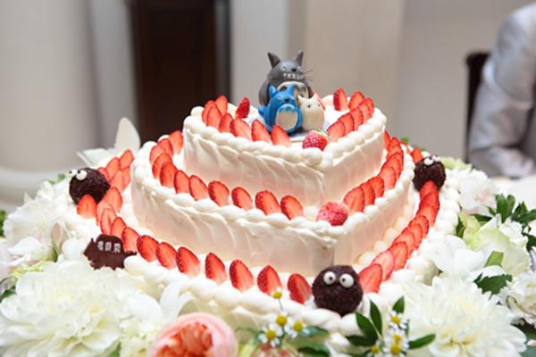 ウェディングケーキはもちろんトトロで♪