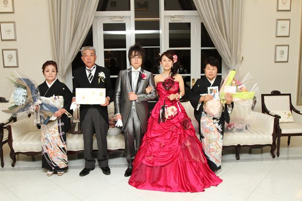 本当に最高の結婚式でした!! お父さん、お母さん、今までありがとうございました。