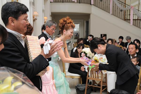I Love 藤木san. ウェディングプランナーさんに、感謝の気持ちを伝えましたー。