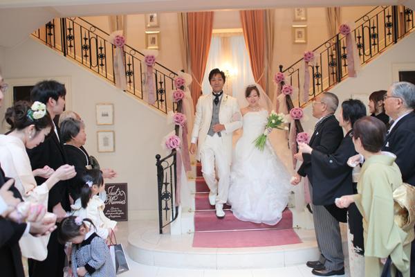 やっぱりY字の階段は素敵♪お姫様気分を味わえました