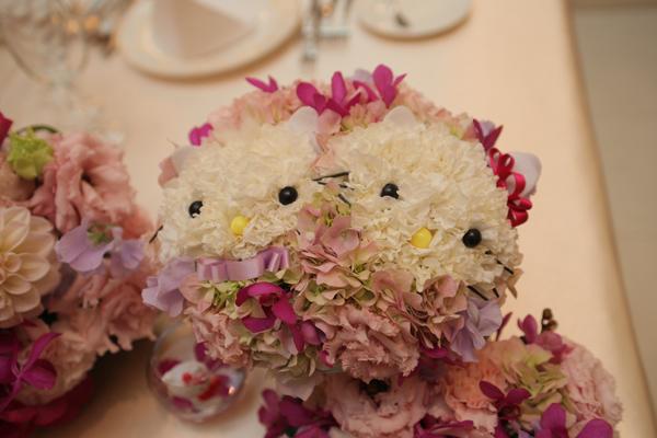キティちゃんとダニエルくんのお花
