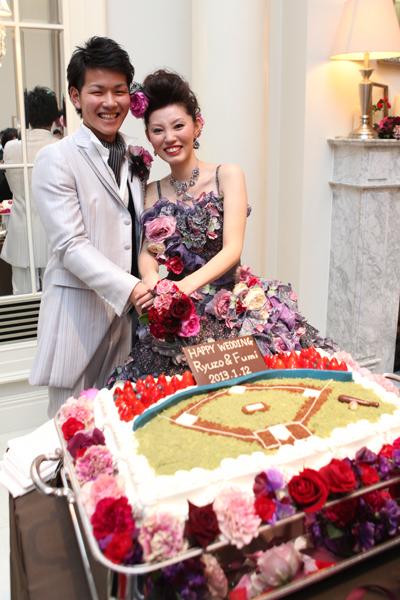 希望通りの最高のウエディングケーキ!