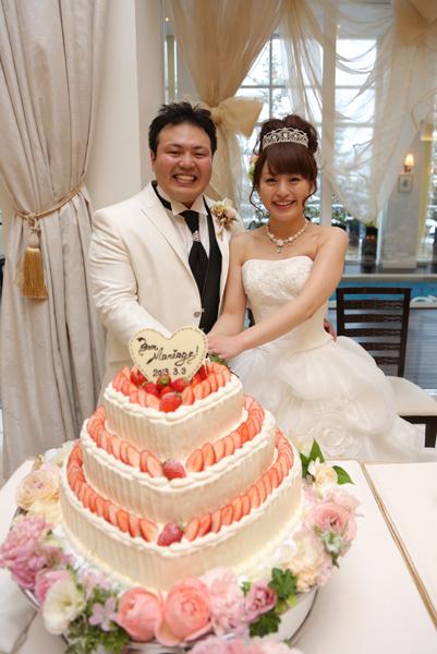憧れの3段ウェディングケーキ!