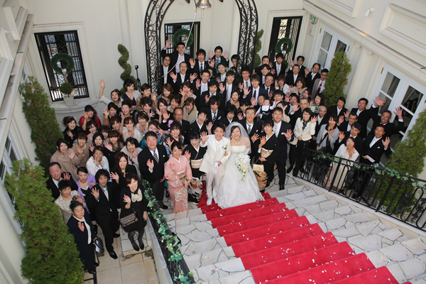 全員幸せいっぱいの結婚式でした!