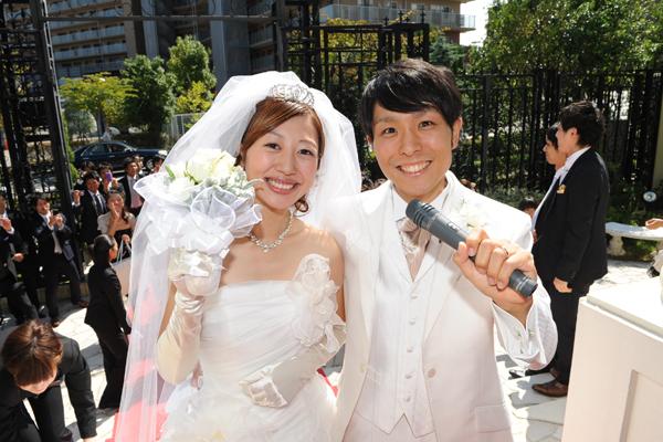 これからブーケトス!なんと受け取ったのは親友!その親友は1年後に結婚しました!素敵~!!