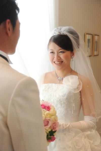 挙式前 花嫁姿の完成です