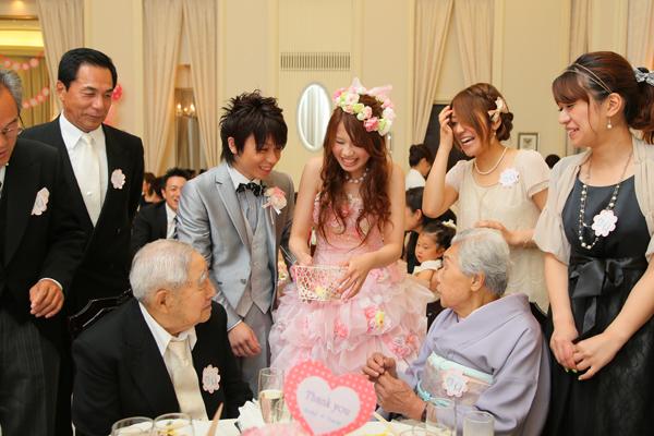 94歳のおじいちゃんにもお祝いしていただきました!