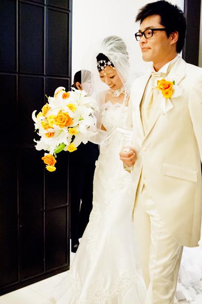 待ちにまった結婚式の始まり~☆緊張?するわけないじゃ~ん♪