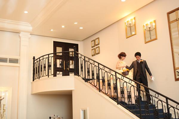 めっちゃ素敵な階段から再入場
