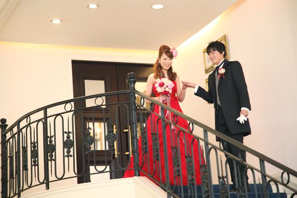 シンデレラ階段からの登場☆彼が迎えに来てくれました。