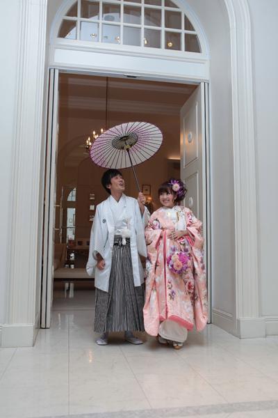 母のリクエストで和装に。番傘もアドバイスをいただきました♪