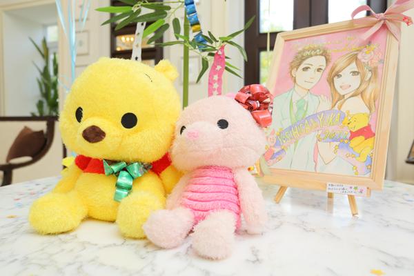 七夕WEDDING★大好きなキャラクター、色、ゲストの方との思い出を飾りました