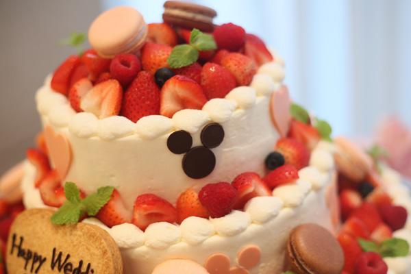 ウエディングケーキ 可愛くてイメージ通りでした