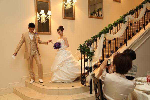 この階段に魅せられたんです。夢が叶いました!
