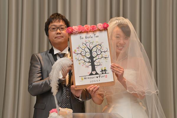 結婚証明書は手作りのウェディングツリー