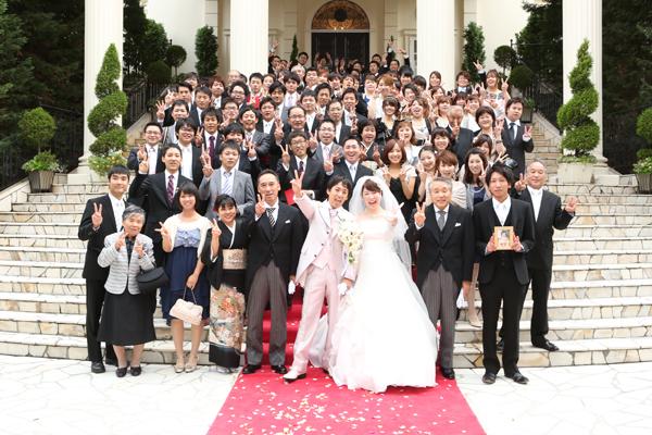 みんなありがとう。温かい結婚式でした。