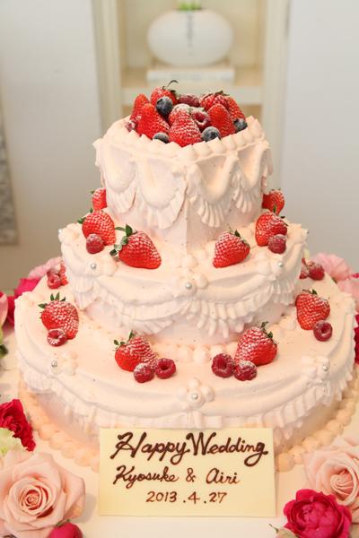 イメージ以上のウェディングケーキ