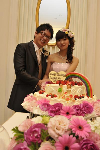 こだわった虹のケーキ!