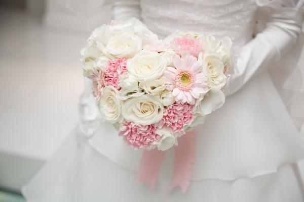 母の手作りブーケで結婚式を挙げるという小さい頃からの夢が叶いました♪