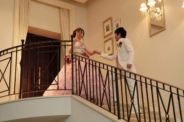 憧れのシンデレラ階段からの入場