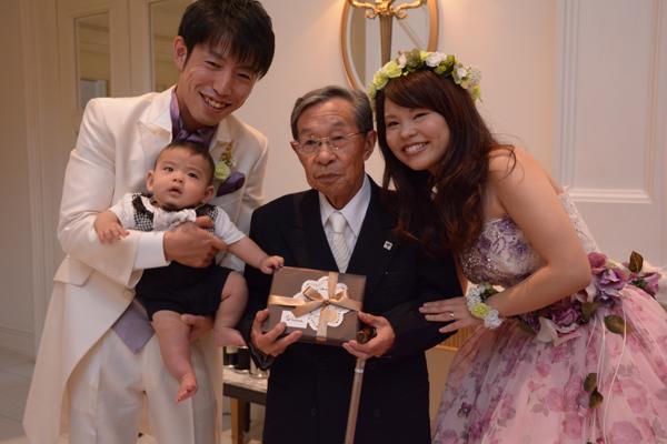 当日は新婦の祖父の誕生日でした。
