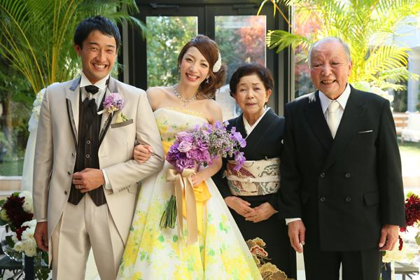 結婚式を通して2つの家族が1つになり、新たな1歩を踏み出しました。