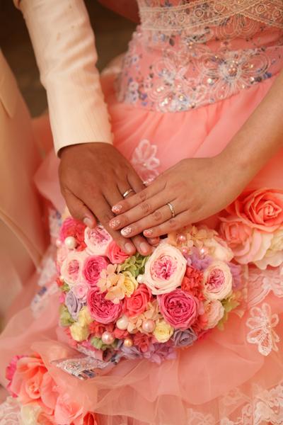 2人で手作りした結婚指輪