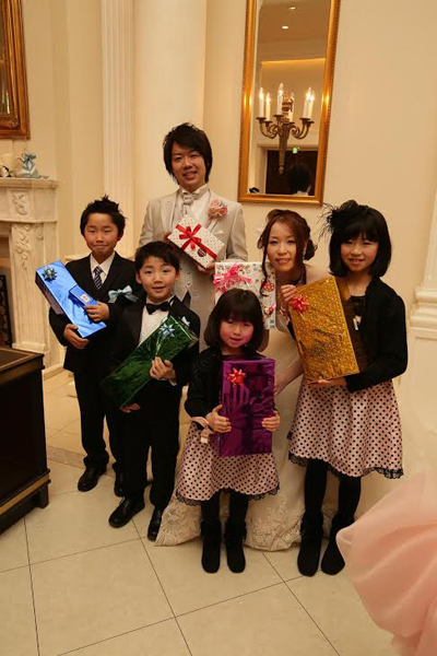 リングボーイ・ガール、リングリレーを手伝ってくれた甥っ子達にプレゼント♪子供達からもサプライズのプレゼントで感動!!