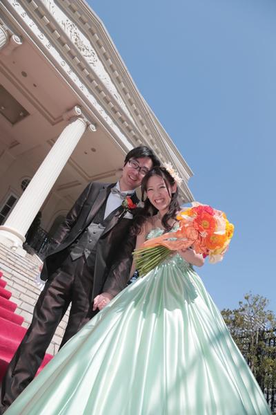 快晴の日に結婚式を挙げることが出来ました