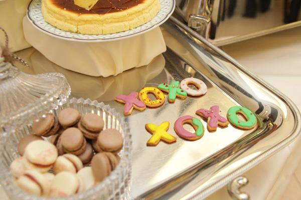 ビジュアルモチーフは「XOXO」。アイシングクッキーを作ってもらい感激!