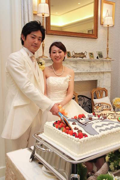 プランナーさん考案のトトロのケーキ!最高です!