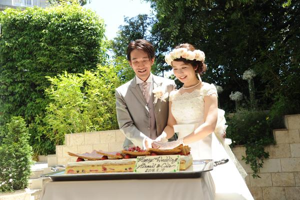 ケーキは二人が好きなミルフィーユ